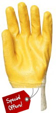 Sale: Reconit Yellow Nitril Gloves