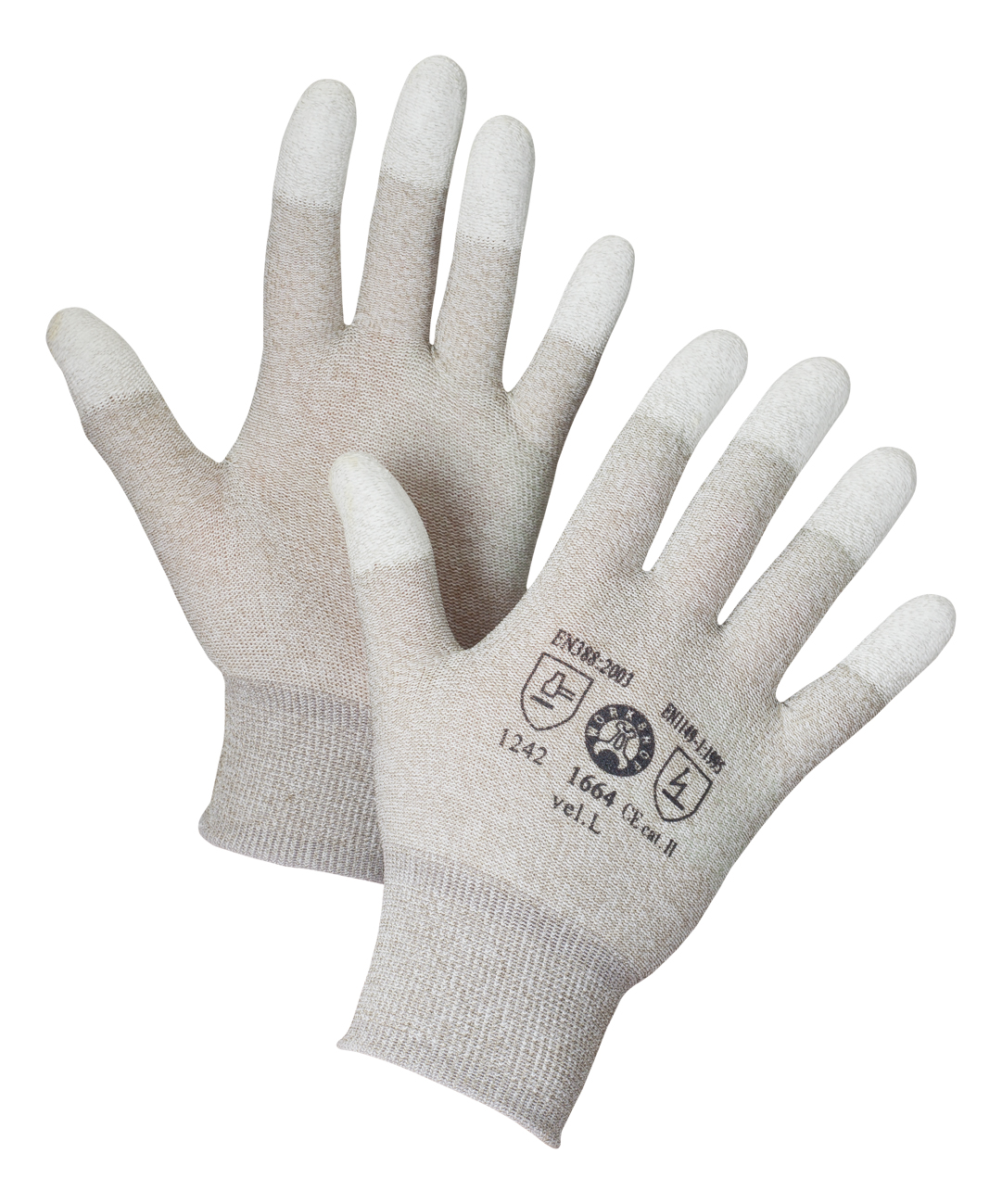 AERO Gloves PurtSkin Copper Finger Optimal 1664, antistatic gloves