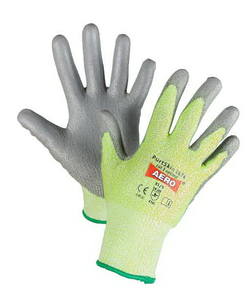 AERO Gloves PurtSkin Cut3 Optimal 1674, with Polyurethane Coating