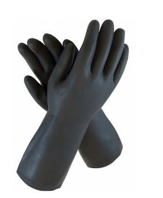 PD-HD27NEO Heavyduty Flocklined Rubber Gloves