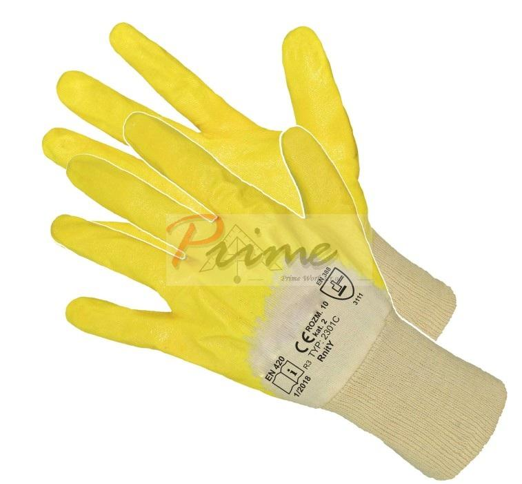 RNIT-Yellow - Manusi de protectie imersate in nitril