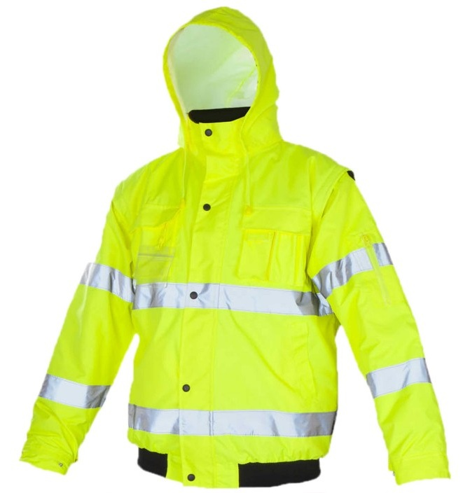 FLASH Short Yellow - Geaca de protectie reflectorizanta de iarna