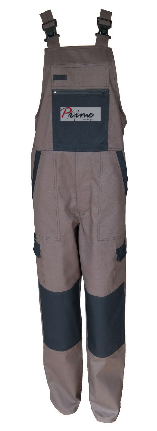 Prime DEX 301-888 Brown-Black Bib Pants