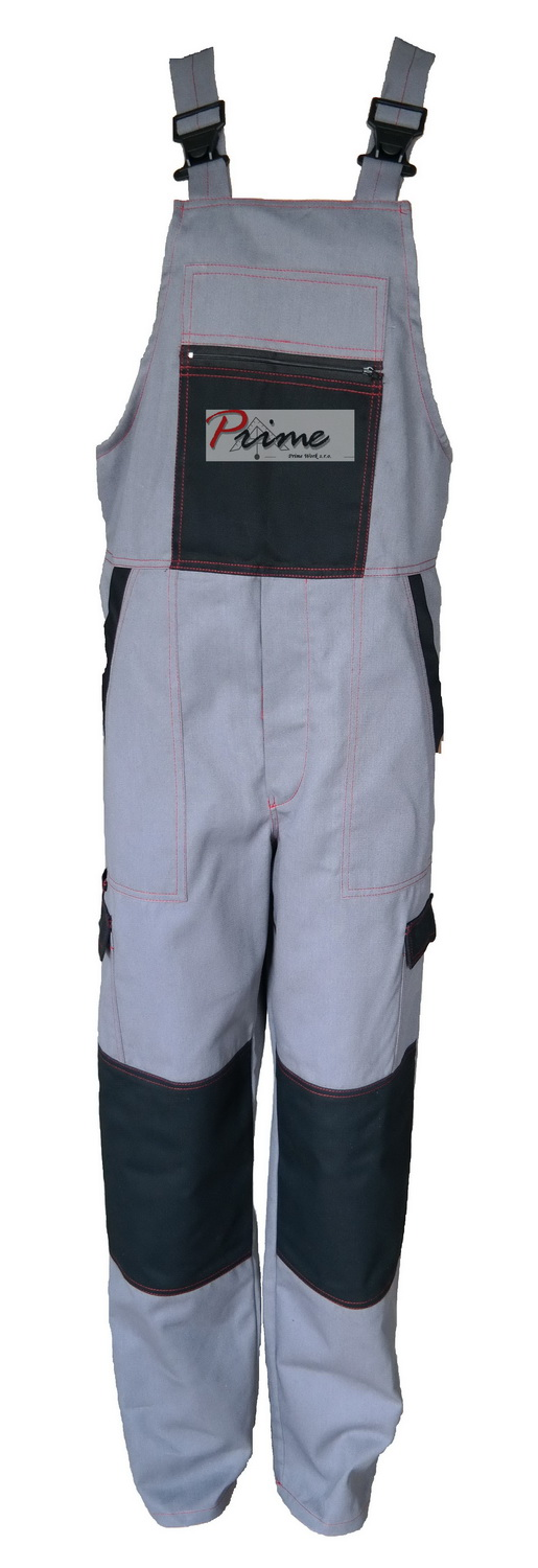 Prime DEX 301-927 Grey-Black Bib Pants
