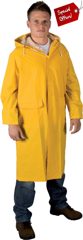 Sale: PVC Yellow Raincoat IA100