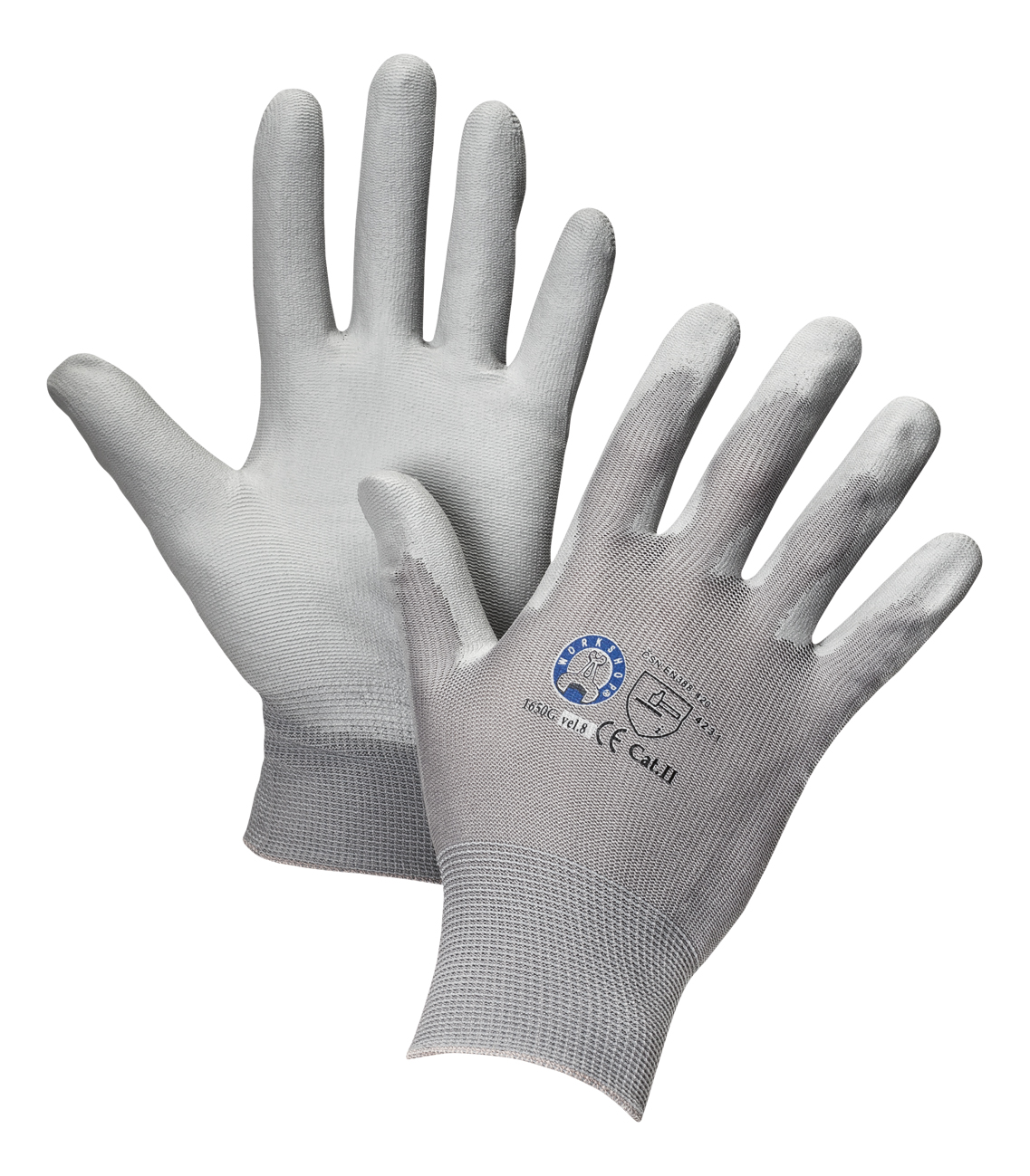 AERO Gloves PurtSkin Grey 1762, with Polyurethane Coating