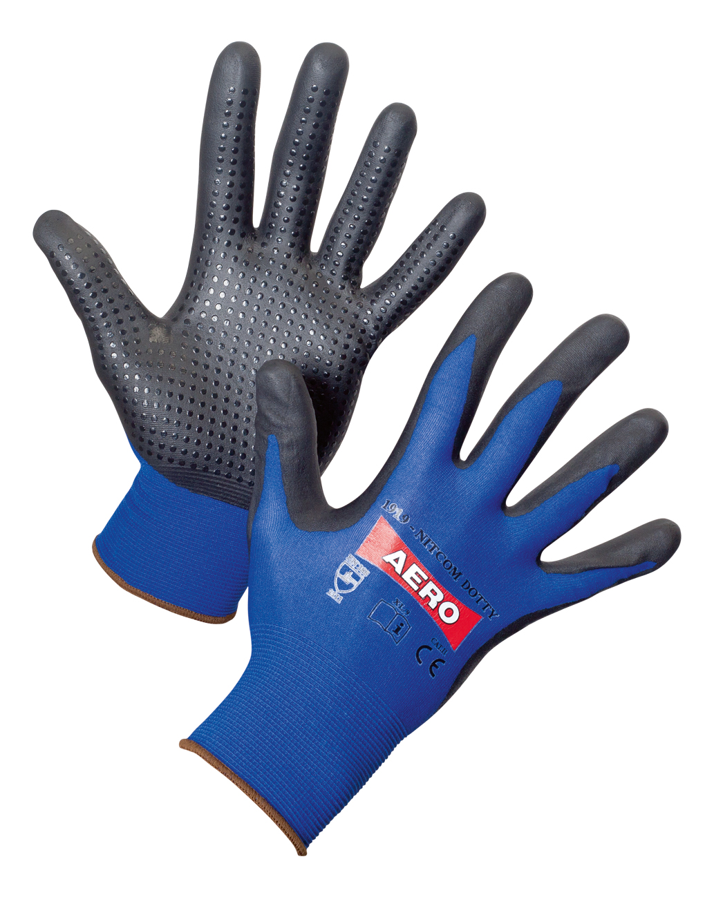 AERO Gloves NitroFoam Dot 1919, with PVC dots
