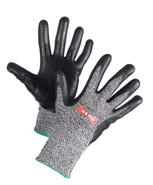 AERO Gloves NitroFoam Dot Cut 5 1687, cut level 5