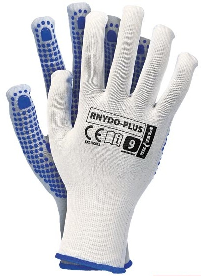 RNYDO Plus RED Gloves with PVC dots