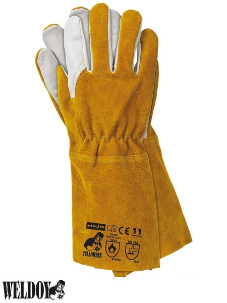 YELLOWBEE Welding Gloves - Kevlar thread, size 11